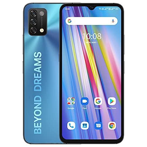 UMIDIGI A11 Téléphone Portable, (4 + 128 Go) Smartphone déverrouillé Plein écran HD + 6,53', téléphone Android avec Batterie 5150 mAh avec Double SIM (Global 4G LTE) Android 11 (Blue)
