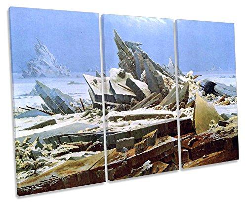Lienzo Decorativo de Pared con diseño de El Mar de Hielo, de Caspar David Friedrich, 150cm Wide x 100cm High