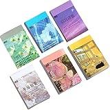 Washi Aufkleber sticker Set(6set,300 Stück )für Journaling, Scrapbooking Tagebuch Planer Album Tagebuch, Notizbuch, Kartenherstellung Laptop Journaling DIY Kunst und Handwerk...