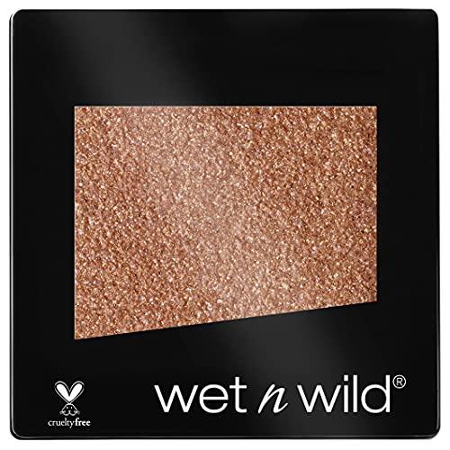 Wet n Wild - Color Icon Eyeshadow Glitter Single - Ombretto Glitter Brillante Singolo Ambrato - Super Pigmentato, con Formula Idratante e Setosa - Vegan - Toasty