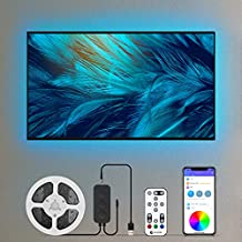 13.2ft Led Lights for TV 55-65in, ECOLOR App and Remote Control Color Changing RGB TV Led Backlight for Desk,TV,Gaming Monitor,Sync to Music for Video Room Decor