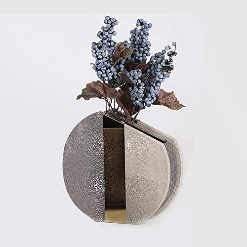 MRFX Peau de poisson magique Simulation fleur bijoux vase en cuir fleur décoration de bureau haut de gamme simple atmosphère Vase de peau de poisson magique même s'il n'y a pas de bouquet est égalemen