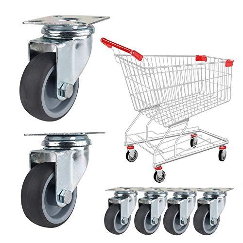 51qabCE2NAL - YAOBLUESEA Ruedas de Transporte de transporte Ruedas cargas pesadas rollos de muebles (12 piezas Ø 50 mm, 40 kg por rueda)