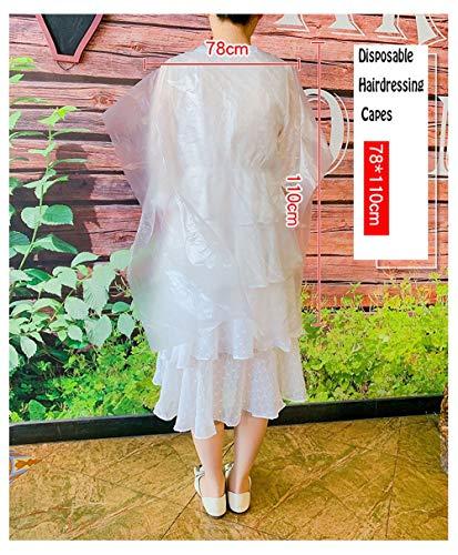 Hair Clippers Tablier de Coiffure à Usage Unique Châle Tablier Cheveux, 200 pièces Transparent Salon étanche des ménages Barber Couverture for Adultes Enfants 78 * 110cm