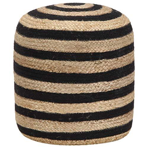 Festnight- Handgefertigter Sitzpuff | Sitzpouf | Fußhocker | Sitzhocker | Hocker | Jute mit EPS-Perlen Füllung | 40 x 45 cm