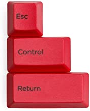 Replacement keycap ESC Control Return PBT Keycap for Professional HHKB Topre Realforce Electrostatic Keyboard Gaming (Red)