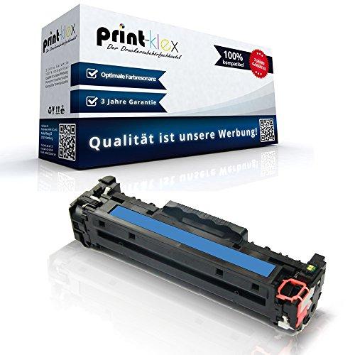 Print-Klex Kompatible Tonerkartusche für HP Color LaserJet CM2320EI MFP Color LaserJet CM2320FXI MFP Color LaserJet CM2320N MFP CC531 A Zyan Cyan