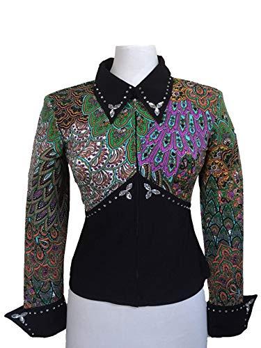 Generisch Showbluse für Westernreiten, Westernbluse, Showkleidung, Western Show Shirt, Westernturnier Kleidung, Horsemanship Shirt, Turnier Bluse