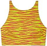 Savage X Fenty Women's Reg High Neck Microfiber Bralette, Pink Tiger Print, L