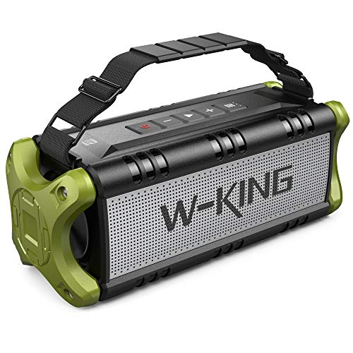 W-KING 50W (70W Peak) Bluetooth Speaker, Portable Wireless Speakers IPX6 Waterproof with 24H Playtime, 8000mAh Battery Power Bank - Enhanced Powerful Bass, TF Card, TWS Subwoofer with NFC