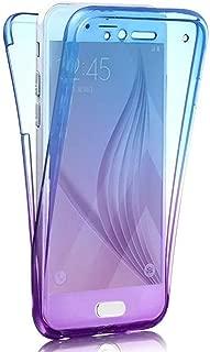 Custodia in silicone per cellulare anteriore e posteriore Blu//Viola Homikon 360 gradi compatibile con Samsung Galaxy J6 Plus