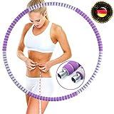 Omegafly Hula Hoop Reifen Erwachsene 1,2-2kg zur Gewichtsreduktion und Massage, Hullahub Reifen zum abnehmen, Abnehmbares Edelstahl-Design, Geeignet für Anfänger & Profis