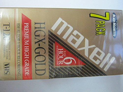 Blank VHS Tapes - NEW in Package - Maxell HGX Gold T 120 7 Pack
