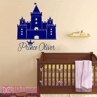 Prince castle Wall Stickers, vinyl Wall decal, personalised baby boy nursery sticker, Wall Sticker for boy, Nursery name stickers, castle stickers for wall