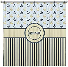 Three Ps In A Pod Life's A Beach Personalized Shower Curtain (Hunter)