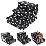Shoze 3 Steps Portable Dog Puppy Ladder Doggy Pet Soft Stairs Ramp Washable Cover Dog Stairs