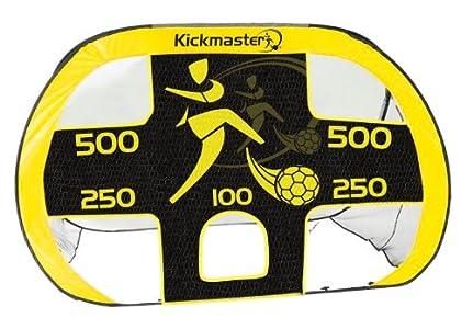 Kickmaster Quick Up - Portería con lona de entrenamiento, color amarillo/negro