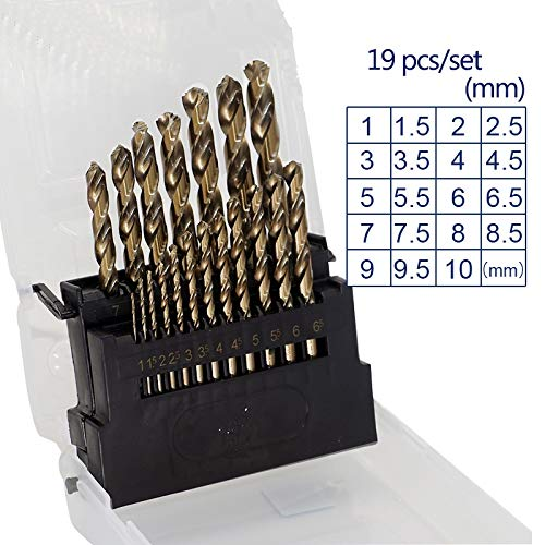LONGWDS bit de Broca M42 8% de Cobalto Taladro torcedura bits HSS Fresa Espiral bits Puestos Conjunto de Acero Inoxidable, Metal Duro y la Madera de la perforación Herramientas de carpintería