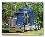 1993 blau Kenworth Semi Big Rig Diesel Poster/Kunstdruck