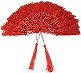 circe-eu - 100 Nappe da 13 cm con Cordino da 5 cm e Piccolo Nodo Cinese per creazione di Gioielli, Souvenir, segnalibri, Accessori Fai da Te