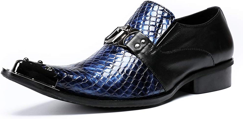 K -Flame -Flame -Flame herr Business Dress skor Genuine läder bröllop skor Pointed Head A Pedal Casual Laty Loafer Flats for Work Utility Footwear  spara upp till 80%