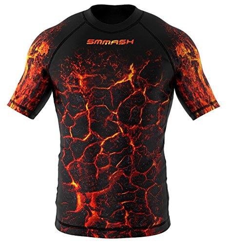 SMMASH INFERNO Camiseta de manga corta para hombre para MMA, UFC, BJJ (M)