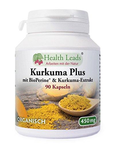 Kurkuma Plus mit BioPerine® & Kurkuma-Extrakt 450 mg x 90 Kaps