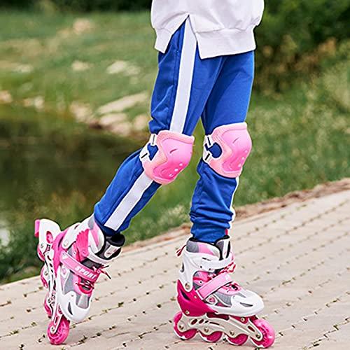 LOVOICE Verstellbare Inline Skates, Inliner Kinder, Kinder Inline-Ice Sneak, PVC Einrad Flash Rollschuhe, Für Jungen, Mädchen, Anfänger
