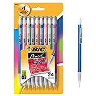 BIC Xtra-Sparkle Mechanical Pencil, Medium Point (0.7 mm), 24-Count, Refillable Design for Long-Lasting Use