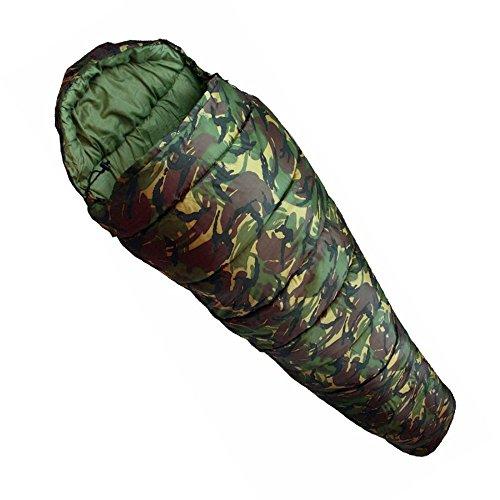 AsiaShopping Sacco A Pelo Mimetico Mummy SARCOFAGO Militare Imbottito Campeggio Viaggio