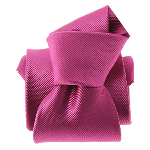Clj Charles Le Jeune. Cravate. Monochrome, Microfibre. Rose, Uni.