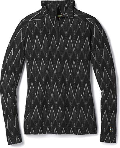 Smartwool Women's Merino 250 Baselayer Pattern 1/4 Zip black/charcoal heather M