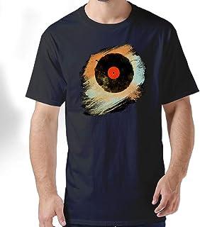 ZYXcustom Vinyl Records Retro Music DJ Vintage Paint Brushes Men's Short-Sleeve T-Shirt