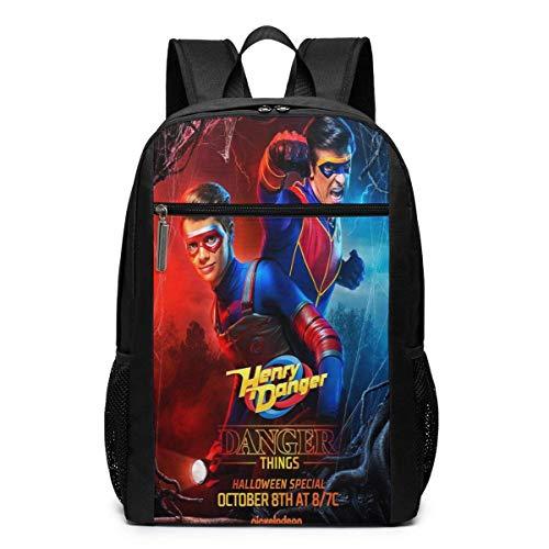 Mochila de Viaje de Mochila Escolar, Danger TV Show of Henry Backpacks Travel School Large Bags Shoulder Laptop Bag For Men Women Kids