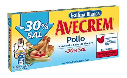 Gallina Blanca Caldo de Pollo 30% Sal, 10 Pastillas