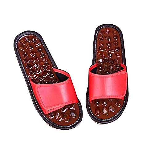 ECSWP MSGWNHLPSB Puntos de acupresión Masaje Zapatos Zapatillas de adoquines Alivio del Dolor del pie Relajación Calzado Cuidado de la Salud Saludable (Size : 37-38)