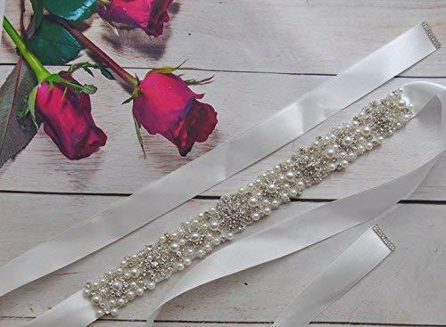 Brautgürtel Strass Perlen Damen Gürtel Abendkleidgürtel weiß, ivory, altrosa, schwarz, hellrosa, rot, dunkelrot, dunkelblau, braun