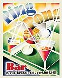 Ping Pong Bar Glasses Vintage Advertising Ad Art Drinking Alcohol Postcard Poster Print 11x14