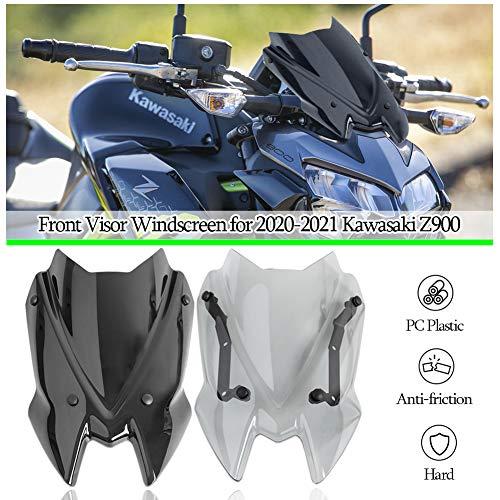 Z900 Accesorios Parabrisas de Motocicleta Parabrisas Delantero Carenado Flujo de Aire Deflectores de Viento Protectores de Visera para Kawasaki ZR900 Z ZR 900 2020 2021 Piezas 20-21 (Fumar)
