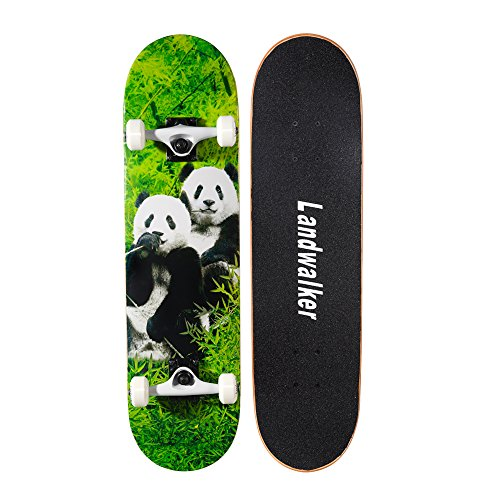 Landwalker Pro Cruiser Complete Girl Skateboard 31x8 Inch Skateboards Skateboard Panda