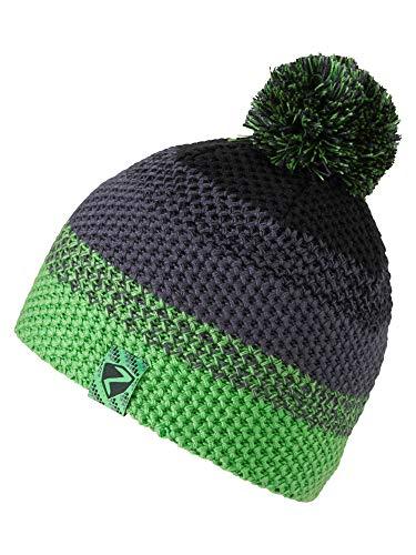 Ziener Kinder ISHI JUNIOR hat Bommel-mütze/Warm, Gestrickt, green, S