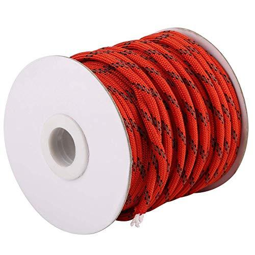 Duokon 20M Multifunktions-Trick-Nylon-Seil, Winddichte wasserdichte Nylon-Leinen-Schnur-Wäscheleine für den Zelt-Garten, der draußen kampiert(Orange)