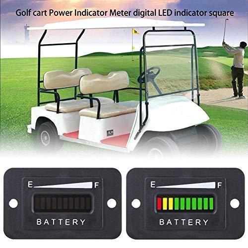 Indicador de batería, 12V/24V/36V/48V Plástico LED Indicador digital de batería Indicador del medidor Negro Temperatura de funcionamiento entre -20 ° C - +85 ° C(BI003-12/24ith plug)