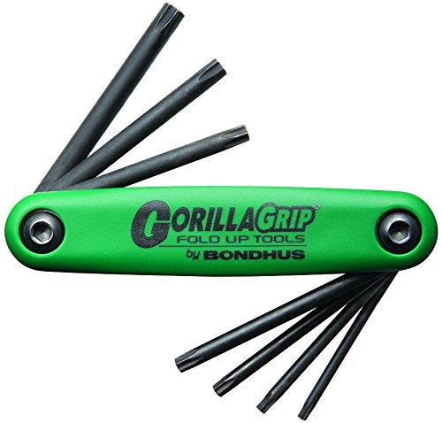 Bondhus 12636 GorillaGrip Star Tamper Resistant Klapphalter TR-TF7S (Torx) 7-teilig