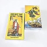 YOYOTECH Versión en español inglés de Rider Wait Tarot Tarot Centennial Edition Tarjeta de Mesa Juego de Mesa Deck Guía de Cartas Adivinación Fate 78 Manuales