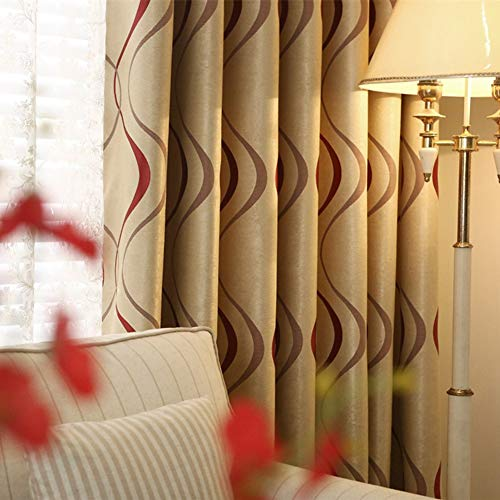 2 Panels Set Modern Striped Curtains for Living Room (Red Stripe,2 x 66x72 Inch)