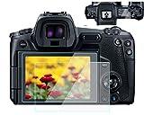Komet Protector de pantalla de cristal compatible con Canon EOS R EOSR LCD + pantalla de hombro, película de cristal templado para Canon eosr cámara digital (4 unidades)