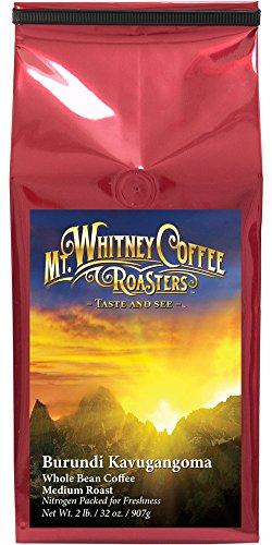 Mt. Whitney Coffee Roasters Burundi Kavugangoma Whole Bean Coffee Medium Roast, 2 Pound