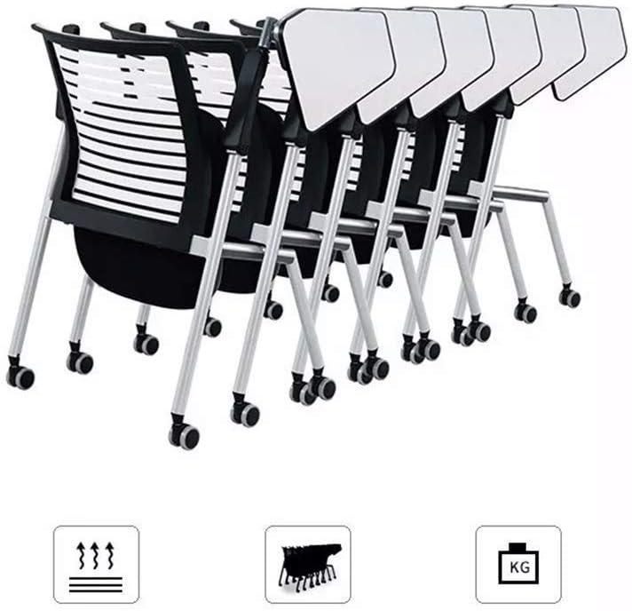 WXF Chaise Bureau Pivotante D'ordinateur Bureau, Chaise D'étude Travail Ergonomique Tissu Maille Maison d'enfants Tabouret Muet roulettes Glissière (Color : B) B