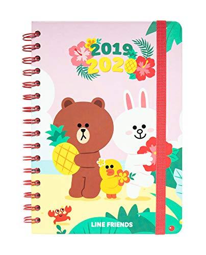 Agenda escolar 2019/2020 A5 12 meses Semana Vista Line...